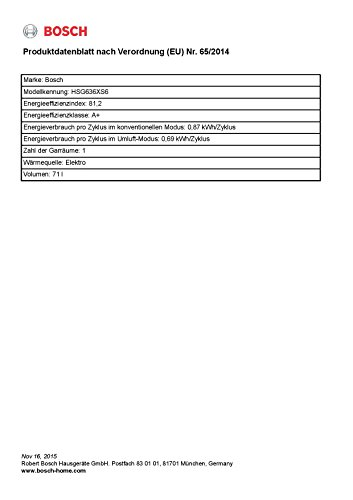 Bosch HSG636XS6 Serie 8 Backofen Elektro / A / 71L / Heißluft Eco / PerfectRoast & PerfectBake / edelstahl - 3
